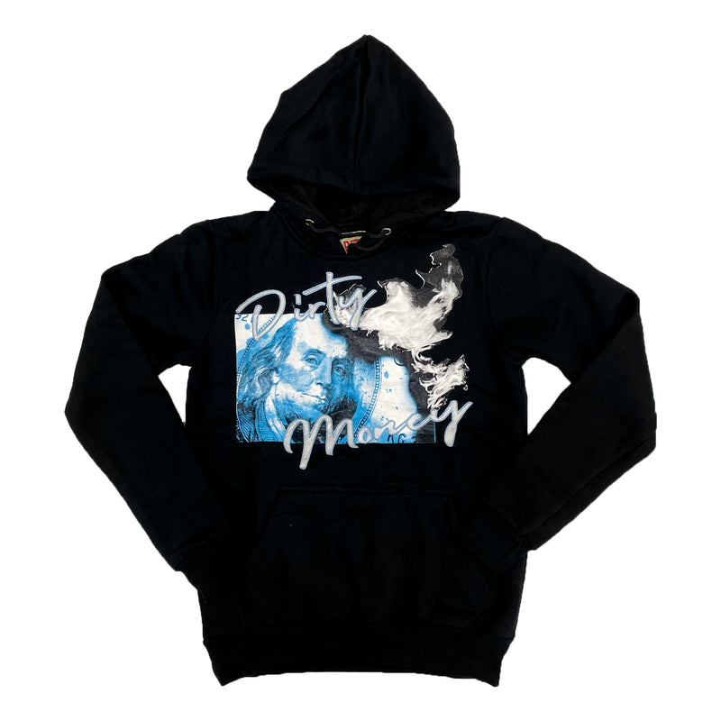 Retro Label Dirty Money Hoodie (Retro 9 University Blue)