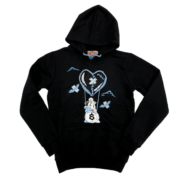 Retro Label Hot Air Hoodie (Retro 9 University Blue)