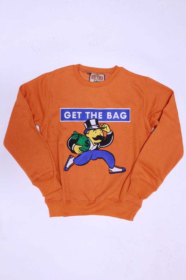Retro Label Get The Bag Crewneck (orange)