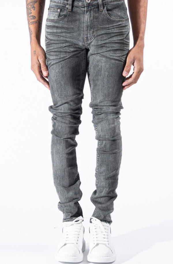 EMBELLISH Morant Rip & Repair denim (waxed black)