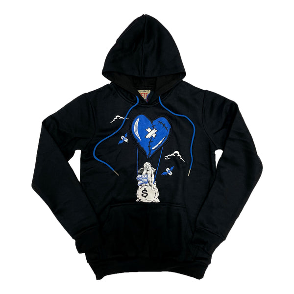 Retro Label Hot Air Hoodie (Retro 13 Hyper Royal)