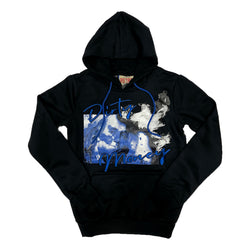 Retro Label Dirty Money Hoodie (Retro 13 Hyper Royal)