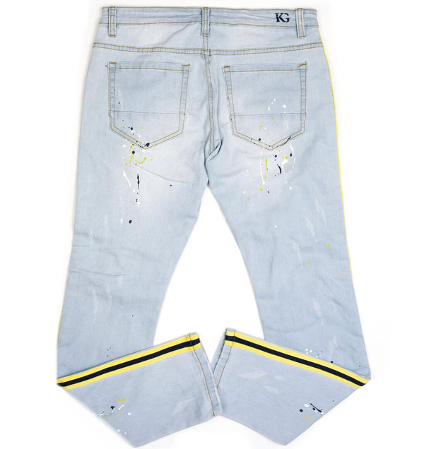 Kilogram YBY Denim (Lt Blue Yellow/Black Stripe)