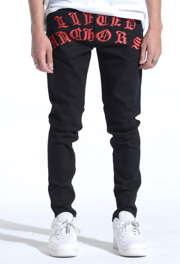 Lifted Anchors Tombstone Denim (Black)
