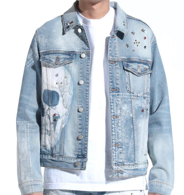 Lifted Anchors Kingdom Denim Jacket (Blue)