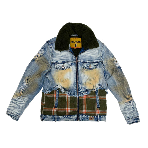 Makobi Denim Jacket (Sherpa Lining)