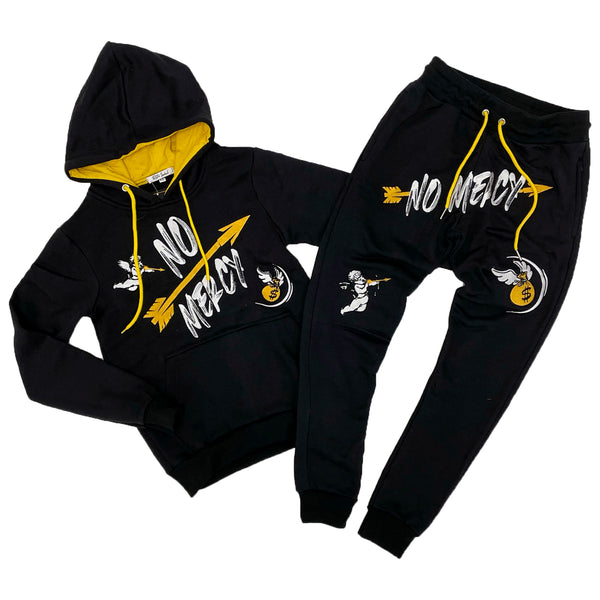 Retro Label No Mercy Hoodie & Jogger Set (Retro 9 University Gold)