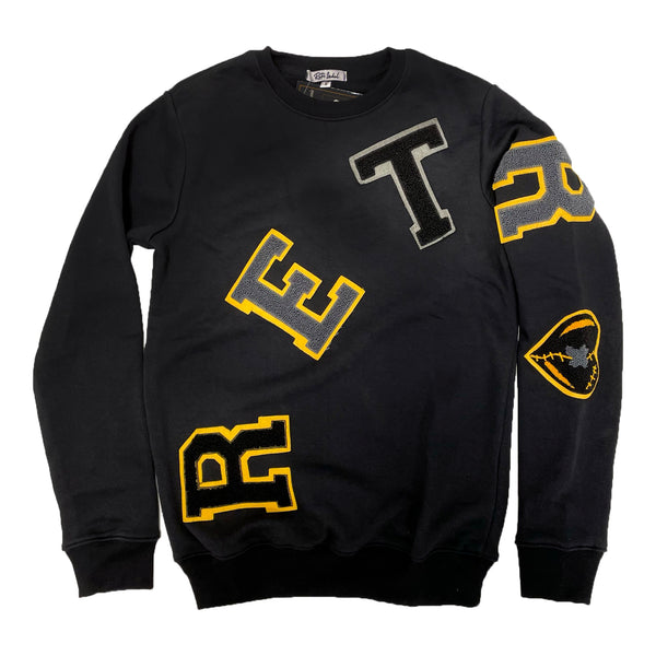 Retro Label Retro Crewneck (Retro 9 University Gold)