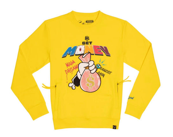 Civilized Get Money Crewneck (Yellow)