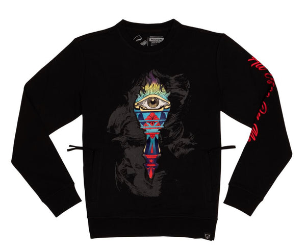Civilized All Eyes on Me Crewneck (Black)