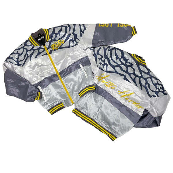 Retro Label Hustle Harder Jacket (Retro 3 Cool Grey)