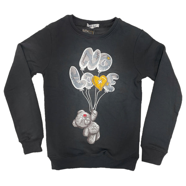 Retro Label No Love Air Crewneck (Retro 3 Cool Grey)