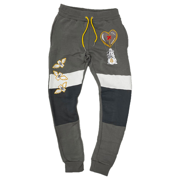 Retro Label Hot Air Joggers (Retro 3 Cool Grey)