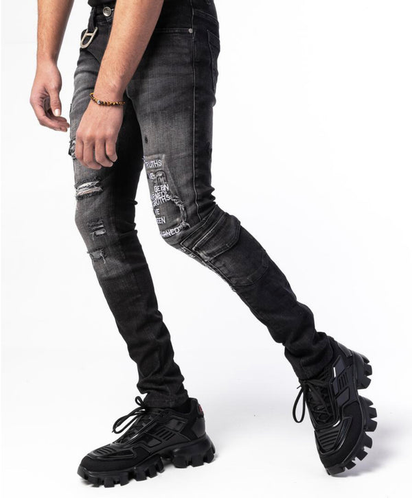 Gala Capone Denim Jeans (Washed Black)