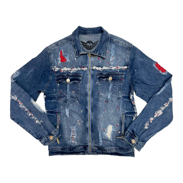 Ferrari Massari Dripping Hustler Jacket (Red Stones)