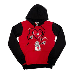 Retro Label Hot Air Hoodie (Retro 6 Carmine)