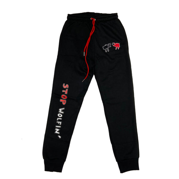 Retro Label Stop Wolfin Joggers (Retro 13 Reverse He Got Game)