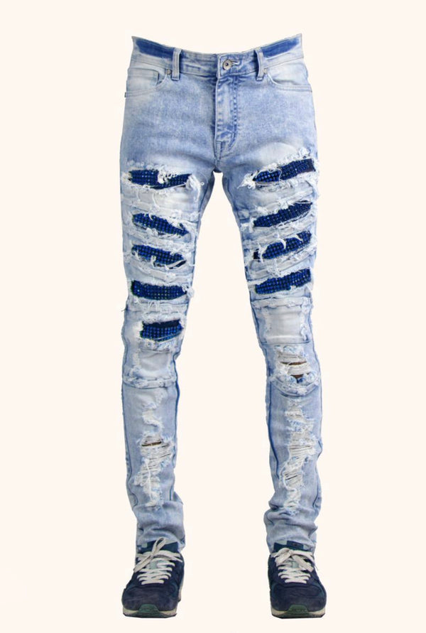 Focus FW'20 Rip & Repair Stone Denim (Blue)