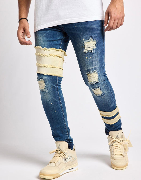 Reelistik Aden Distressed Denim (Blue)
