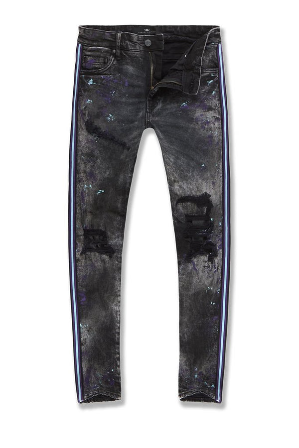 Jordan Craig Sean Sparta Striped Denim (Dark Raven)