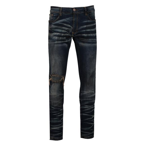 Golden Denim Rip Jean (Dark Wash)