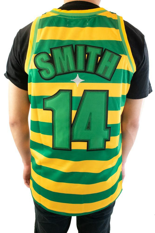 Headgear The Fresh Prince of Bel Air Will Smith Striped Basketball Jersey (Green/Yellow)