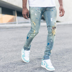 Syndicate by Golden Denim Paint Splatter Jeans (Medium Wash)