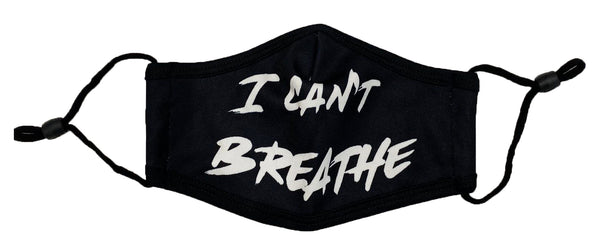 Retro Label Can't Breath Face Mask (Black)