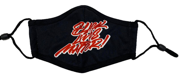 Retro Label Black Lives Matter Mask (Black/Red)