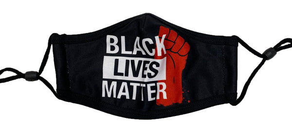Retro Label Black Lives Matter Mask (BLM/Black)