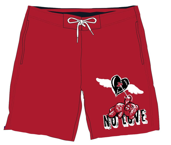 Retro Label No Love Shorts (Retro 14 Red)
