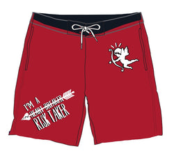 Retro Label Heart Breaker Shorts (Retro 14 Red)