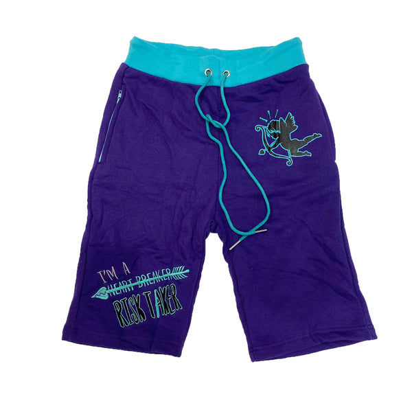 Retro Label Heart Breaker Shorts (Retro 5 Grape)