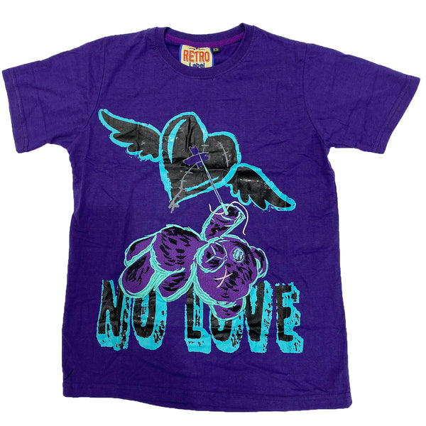 Retro Label No Love Shirt (Retro 5 Grape)