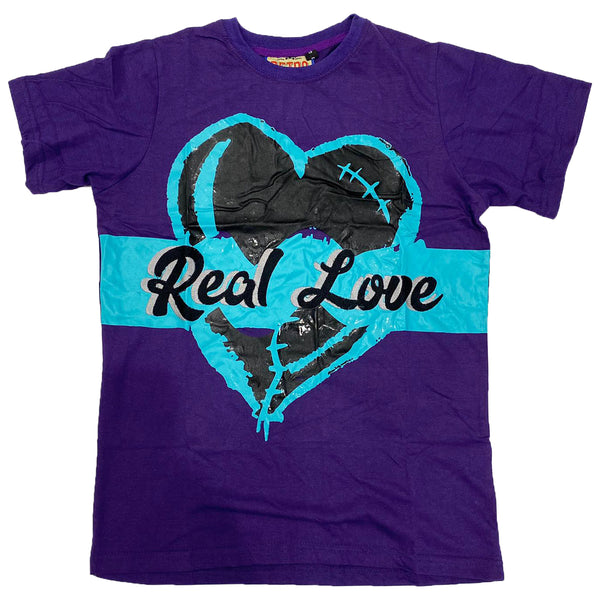 Retro Label Real Love Shirt (Retro 5 Grape)