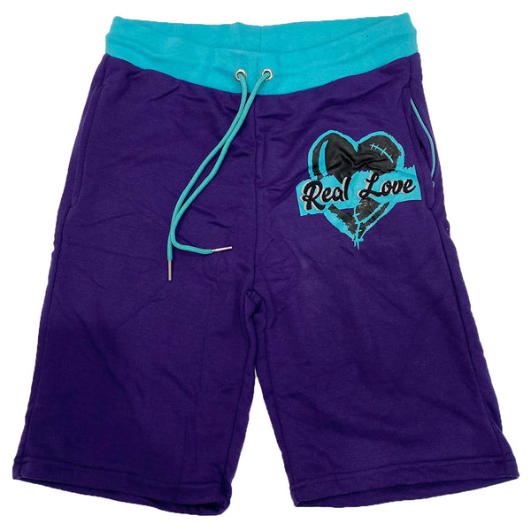 Retro Label Real Love Shorts (Retro 5 Grape)