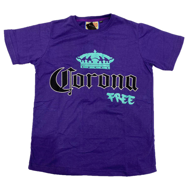 Retro Label Corona Free Shirt (Retro 5 Grape)