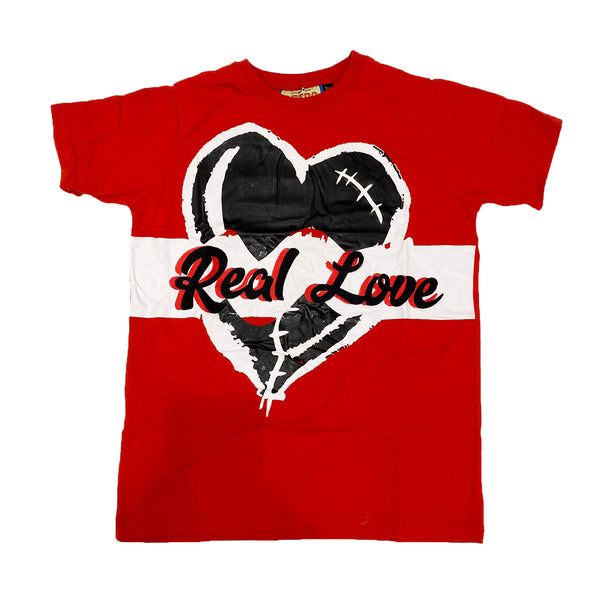 Retro Label Real Love Shirt (Retro 14 Red)