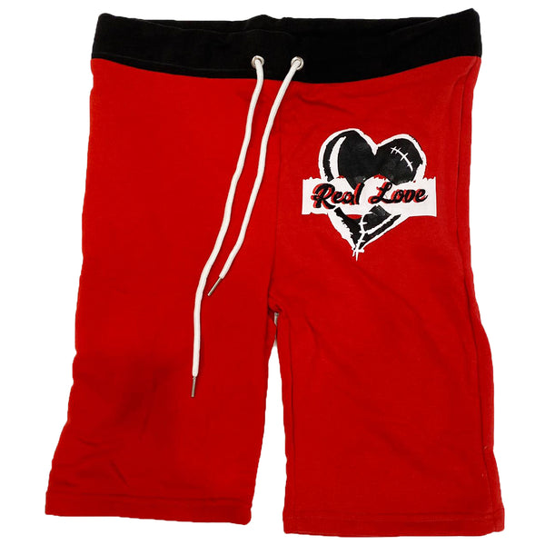 Retro Label Real Love Shorts (Retro 14 Red)