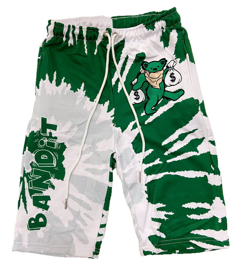 Retro Label Bandit Shorts (Retro 4 Pine Green)