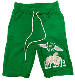 Retro Label No Love Shorts (Retro 4 Pine Green)
