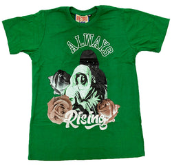 Retro Label Always Rising Shirt (Retro 4 Pine Green)