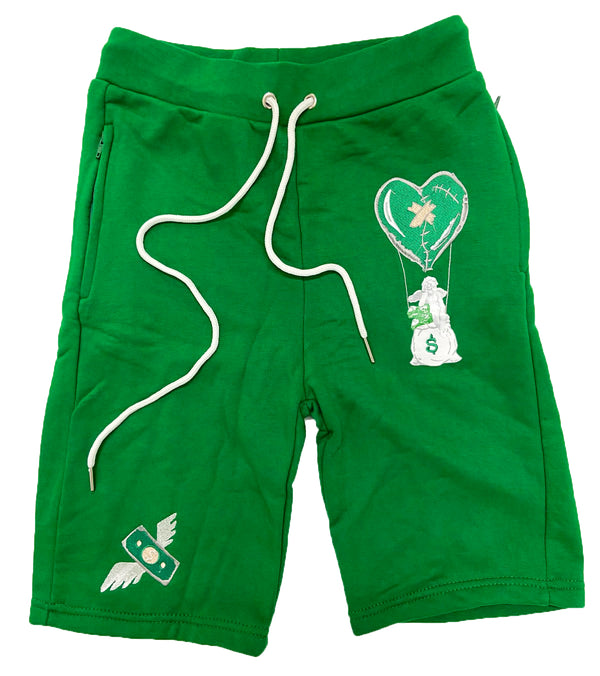 Retro Label Hot Air Shorts (Retro 4 Pine Green)
