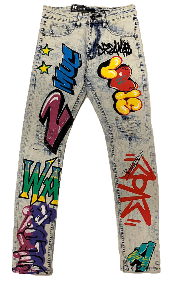 Waimea Printed Jeans (Graffiti Multi)