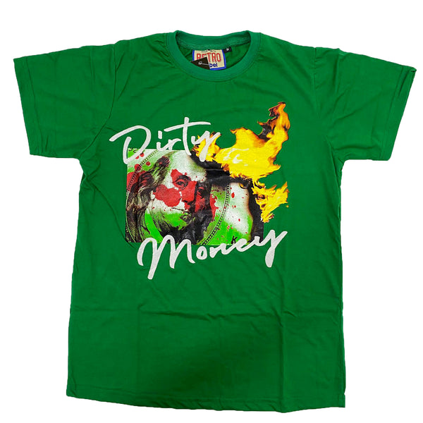 Retro Label Dirty Money Shirt (Retro 13 Lucky Green)