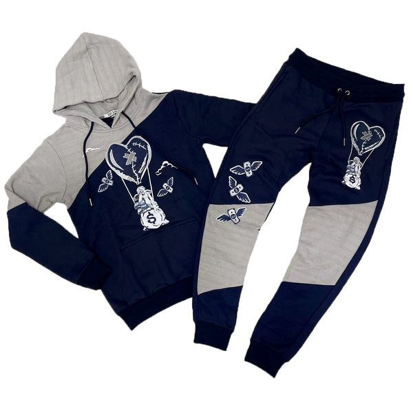 Retro Label Hot Air Hoodie & Jogger Set (Retro 3 Georgetown)