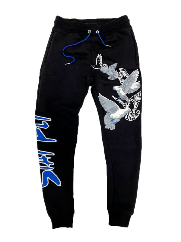 Retro Label Stay Fly Joggers (Retro 5 Stealth)