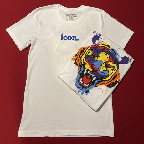 Icon Tiger Logo Shirt (White/Blue/Multi)