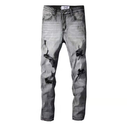 DNA Rips Denim Jeans (Grey)