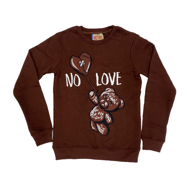 Retro Label No Love Crewneck (Retro 1 Dark Mocha)